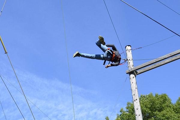 Giant Swing im Kletterpark Sigmaringen Donau out&back Riesenschaukel