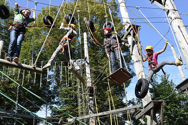 Jugendgruppe im Kletterpark Sigmaringen