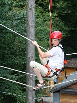 Balancieren auf Seilen
